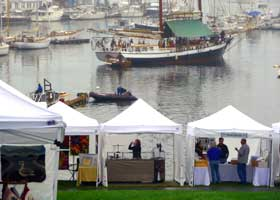 Camden Harbor Arts & Crafts Show Tents