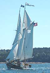 Lewis R French under sail